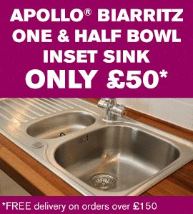 Fit Biarritz sinks in your worktops for only £50